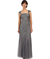 Adrianna Papell - Cap Sleeve Envelope Beaded Gown
