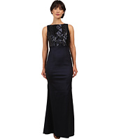 Adrianna Papell - Cable Sequin and Stretch Taffeta Gown