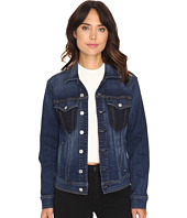7 For All Mankind - Denim Jacket w/ Shadow Pockets in Medium Shadow Blue