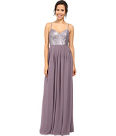 Donna Morgan - Halter Neck Gown with Crisscross