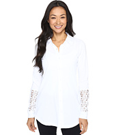 Mod-o-doc - Classic Jersey Long Sleeve Shirt w/ Lace Insets