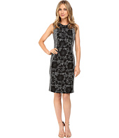 Calvin Klein - Boucle Sheath Dress w/ Lace