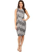 Calvin Klein - Color Blocked Lace Sheath Dress