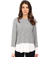 Calvin Klein - Long Sleeve Marled Twofer Top