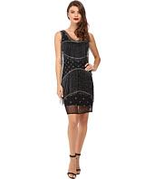 Unique Vintage - Beaded Fringe Mesh Flapper Dress