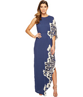 Halston Heritage - One Sleeve Boat Neck Printed Gown