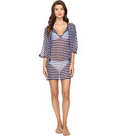 Tommy Bahama - Breton Stripe Tie Front Tunic Cover-Up