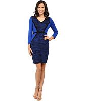 Calvin Klein - 3/4 Sleeve Color Block Sweater Dress CD6W1816