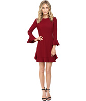 JILL JILL STUART - Crepe Short Dress with Bell Long Sleeves