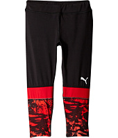 Puma Kids - Cropped Tights w/ Print (Big Kids)