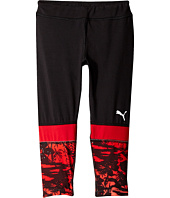 Puma Kids - Cropped Tights w/ Print (Little Kids)