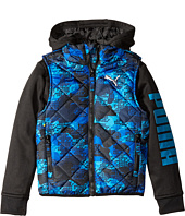 Puma Kids - Hoodie Vest Printed Jacket (Big Kids)