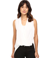 HEATHER - Silk Side Zip Drape Top