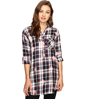 Brigitte Bailey - Martina Washed Plaid Button Up Tunic