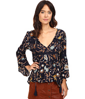 Brigitte Bailey - Aisha Printed Bell Sleeve Top with Crochet Detail