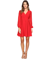 Taylor - Stretch Crepe w/ Chiffon Sleeve Dress