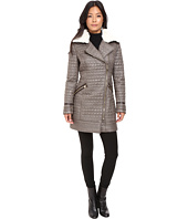 Via Spiga - Croc Quilt Asymmetrical Zip with Removable Collar