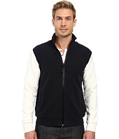 Kenneth Cole Sportswear - Full Zip Mock Neck w/ Felt Trim