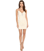 Brigitte Bailey - Bisette Lace-Up Embroidered Dress
