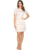 Vince Camuto - Jacquard A-Line Dress with Short Sleeves