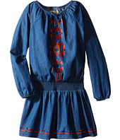 Lucky Brand Kids - Chambray Peasant Dress with Embroidery (Little Kids)