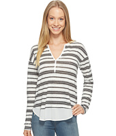 Sanctuary - Striped Faraday Henley Top