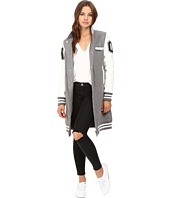 Members Only - Long Varsity Wool with PU Sleeves