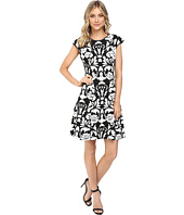 Vince Camuto - Blister Knit Cap Sleeve Fit and Flare Dress