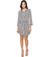 Laundry by Shelli Segal - 3/4 Sleeve Printed Shirtdress w/ Patch Pockets