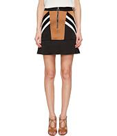 Neil Barrett - Retro Modernist III Rayon Stripes + Cady Stripes Skirt