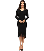 Laundry by Shelli Segal - Fringe Sweater Dress