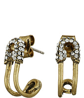 Marc Jacobs - Safety Pin Strass Ear Hoop Earrings