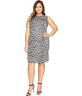 MICHAEL Michael Kors - Plus Size Sleeveless Cheetah Yoke Dress