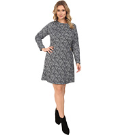 MICHAEL Michael Kors - Plus Size Woodbrook Zip Seam Flare Dress