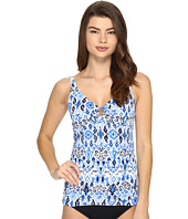 Tommy Bahama - Ikat Over the Shoulder Tankini Top with Ring