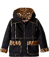 Urban Republic Kids - Ultra Suede Faux Shearling Hooded Jacket (Toddler)