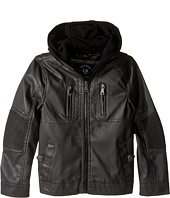 Urban Republic Kids - Faux Leather Jacket w/ Hoodie (Little Kids)