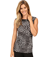 MICHAEL Michael Kors - Panther Leather Yoke Top