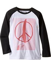 Munster Kids - Peace Feather Long Sleeve T-Shirt (Toddler/Little Kids/Big Kids)