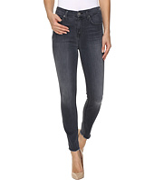 7 For All Mankind - The High Waist Ankle Skinny w/ Raw Hem in Cobblestone Grey