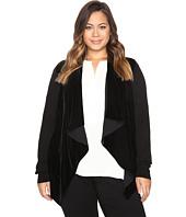 MICHAEL Michael Kors - Plus Size Velvet Drape Front Sweater