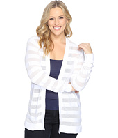 MICHAEL Michael Kors - Plus Size Sheer Stripe Open Cardi