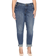 KUT from the Kloth - Plus Size Amy Ankle Straight Leg Roll Up Frey Jeans in Valued