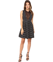 M Missoni - Spacedye Sleeveless Dress w/ Sheer V-Neck Panel