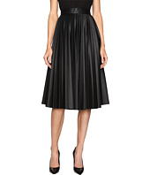M Missoni - Faux Leather Pleated Skirt
