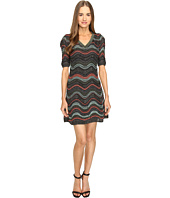 M Missoni - Lurex Ripple V-Neck Short Sleeve Dress