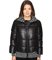 M Missoni - Solid Puffer Coat w/ Spacedye Trim
