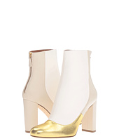 M Missoni - Leather Ankle Boots with Back Zipper with Gold Toe Detail