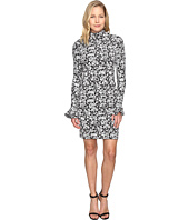 MICHAEL Michael Kors - Floral Bell Sleeve Long Sleeve Dress