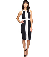 MICHAEL Michael Kors - Sleeveless Contrast Zip Front Dress